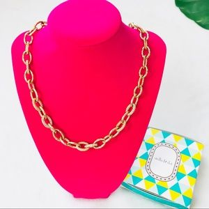 Stella & Dot Christina gold chain link necklace